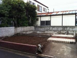 東京都足立区 六町 家屋解体工事 区画整理の為基礎残しのイメージ画像