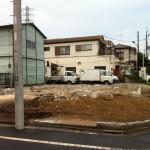 東京都足立区 住宅解体工事 足場養生、区画整理の為基礎残しのイメージ画像