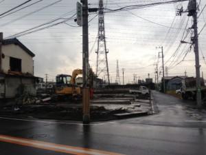 東京都足立区六町 アパート解体工事 基礎残しのイメージ画像
