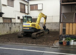 足立区本木東 軽量鉄骨造2階建家屋解体工事のイメージ画像