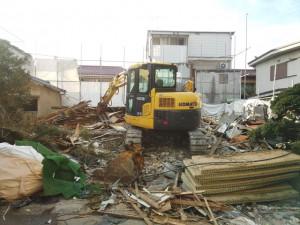 葛飾区四つ木 木造二階建家屋解体工事のイメージ画像