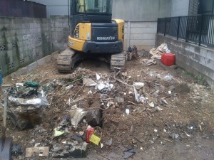 豊島区池袋 木造二階建家屋解体工事のイメージ画像