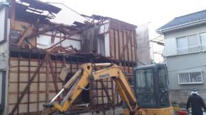 葛飾区東新小岩 木造二階建家屋解体工事