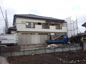 川口市新井宿 木造二階建家屋解体工事