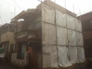 市川市大和田 木造二階建家屋解体工事