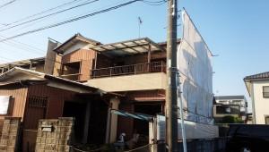 越谷市蒲生南 木造2階建家屋解体工事