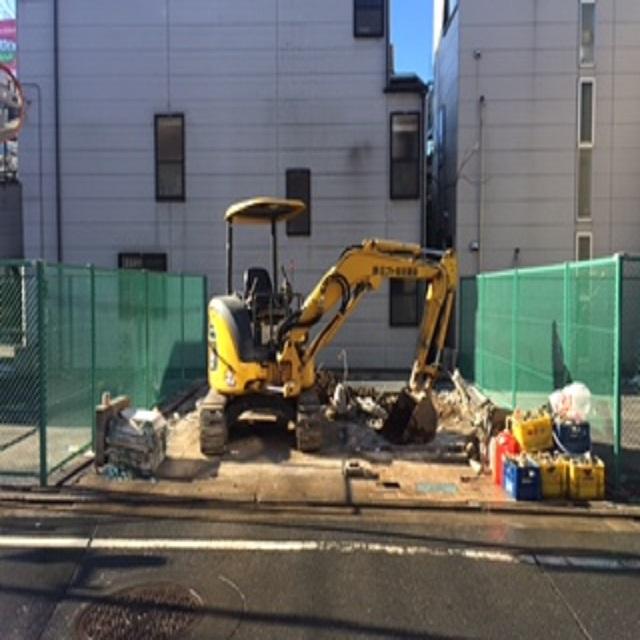豊島区池袋本町 道路拡張に伴う解体工事のイメージ画像