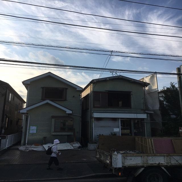 松戸市新松戸 木造2棟解体工事