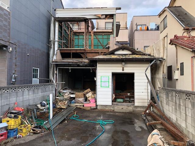 足立区西綾瀬木造2階建て解体工事