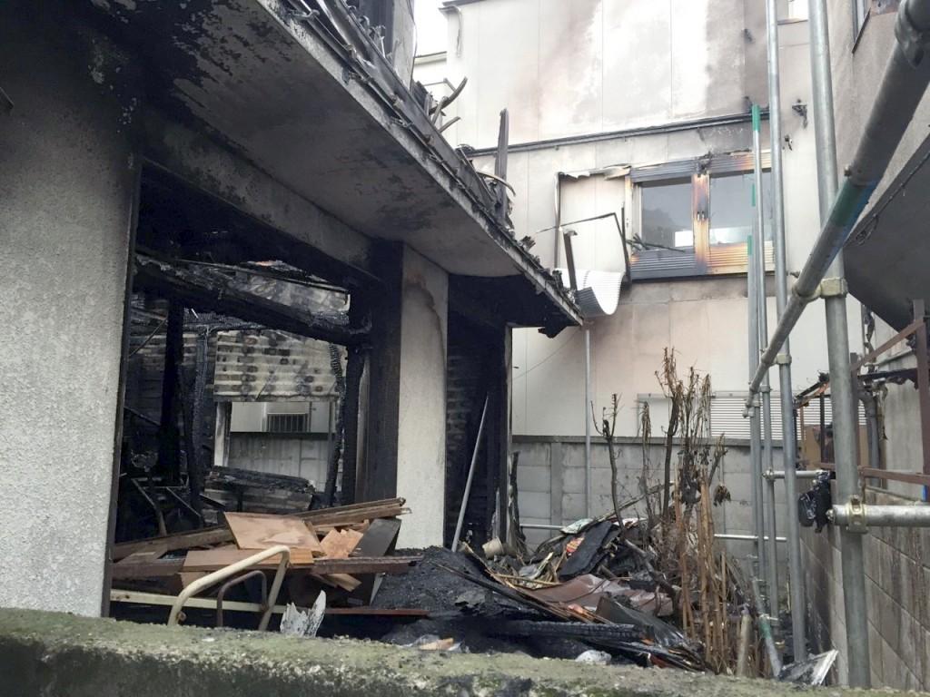 東京都中野区本町火災解体工事