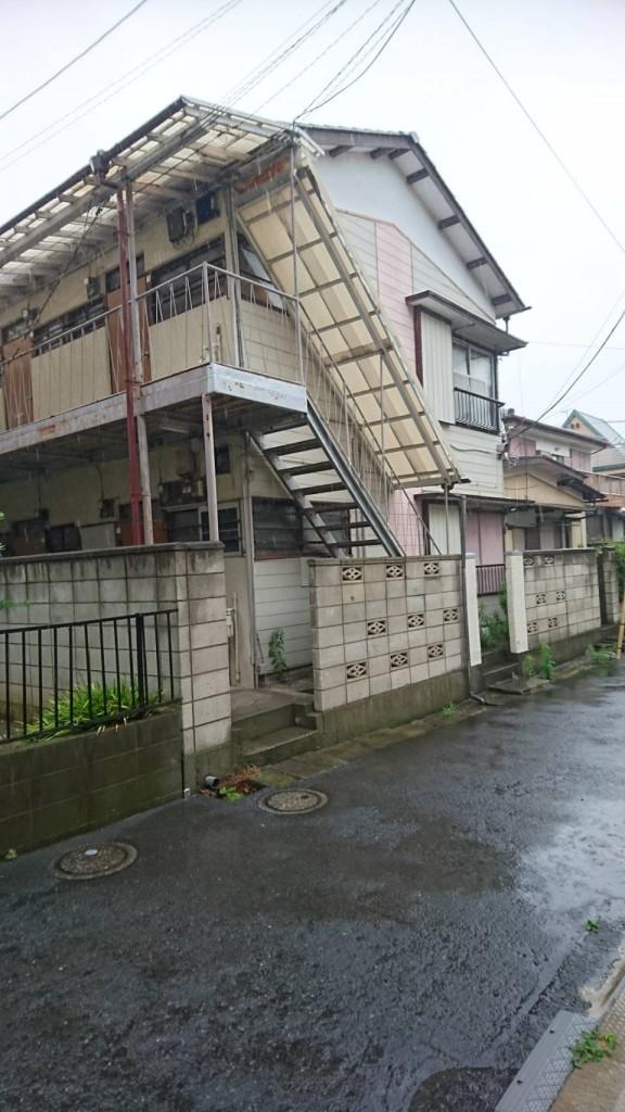 千葉県市川市新田木造2階建アパート解体工事