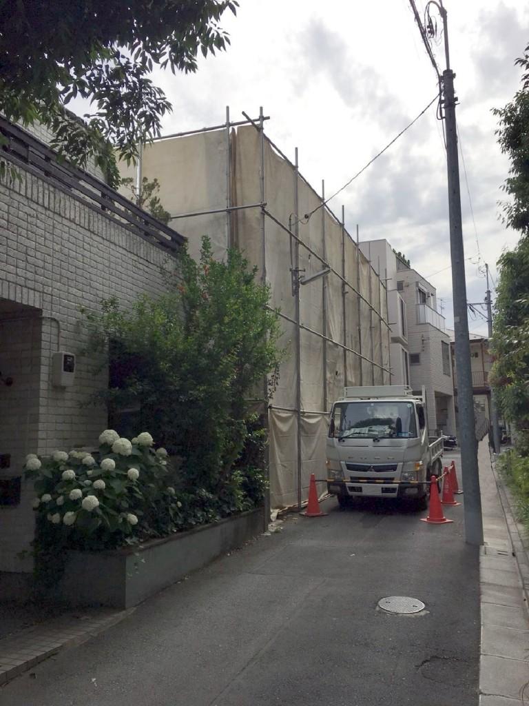 東京都渋谷区上原木造2階建解体工事