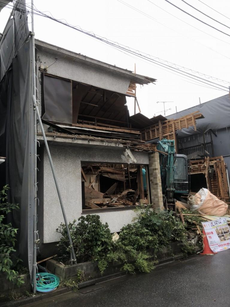 東京都大田区池上木造2階建解体工事