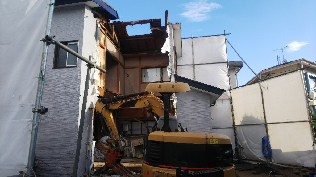 東京都練馬区大泉学園木造2階建解体工事