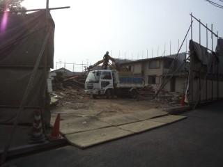 解体工事 木造2階建て 石垣 擁壁 大阪府堺市