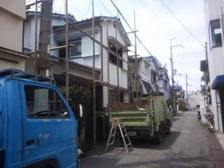 解体工事 木造2階建て 大阪府藤井寺市
