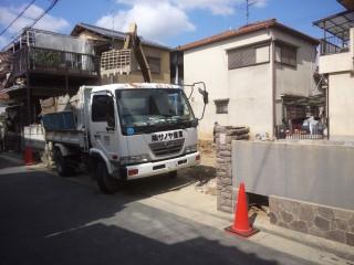解体工事 RC造2階建て 大阪府堺市